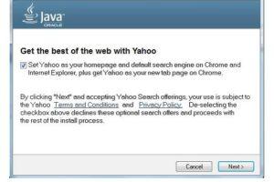 Az Oracle a Yahoo!-ra cseréli az Ask keresőt a Java frissítésekben