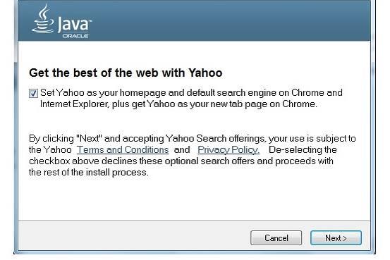 Az Oracle a Yahoo!-ra cseréli az Ask keresőt a Java frissítésekben kép