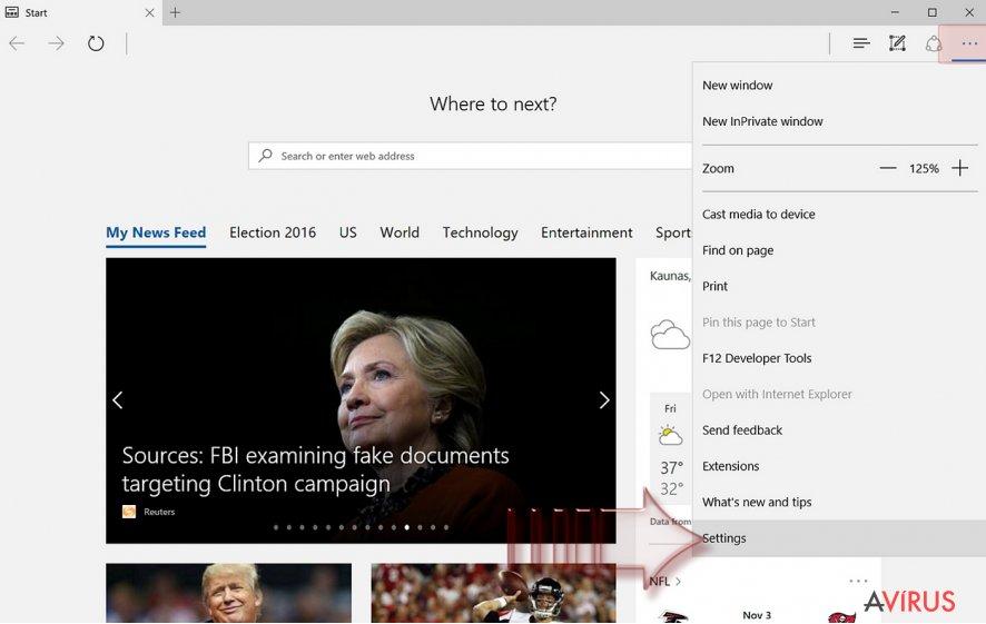 A Microsoft Edge alaphelyzetbe állítása kép