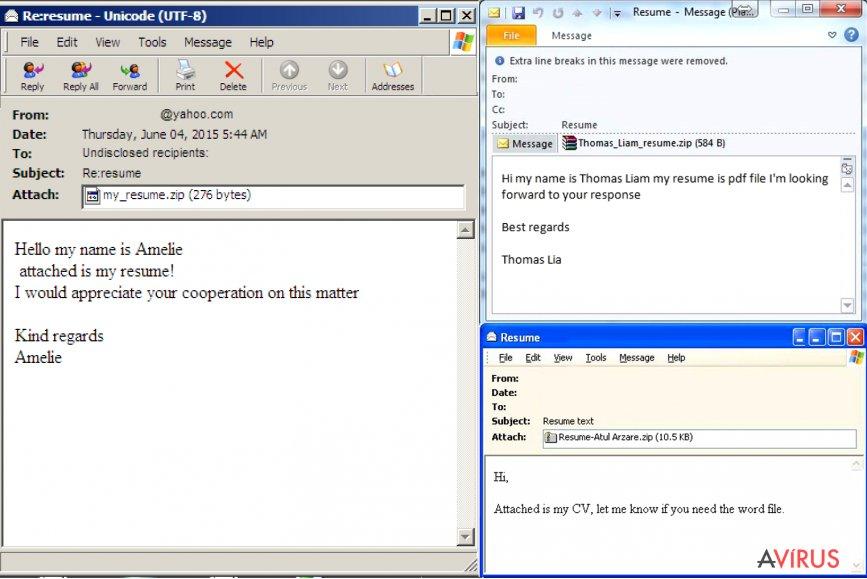 A vírussal fertőzött e-mailek azonosítása kép