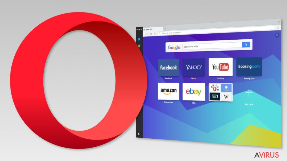 Image of Opera browser