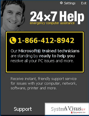 24×7 Help kép