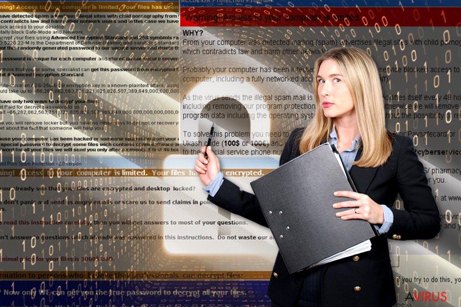 ACCDFISA v2.0 ransomware vírus kép