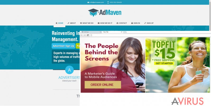 Admaven pop-ups appear at the most inconvenient time