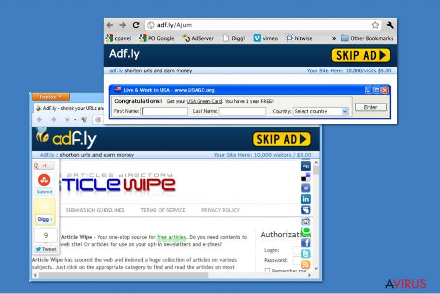 Adf.ly vírus kép