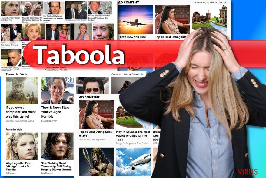Taboola hirdetések kép