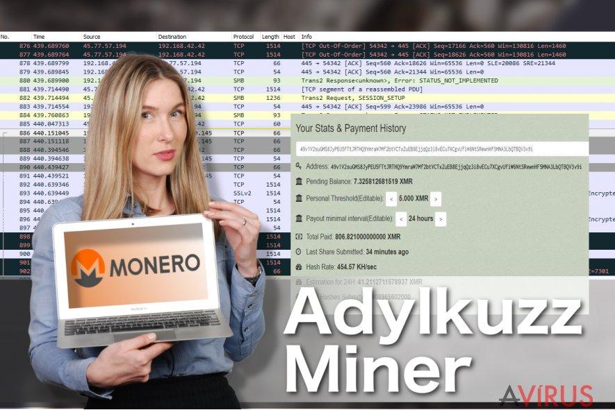 Illusztráció az Adylkuzz Miner vírusról