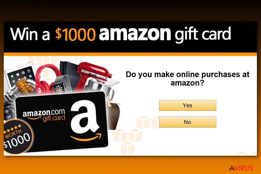 Példa az Amazon ajándékkártyás kérdőívekre