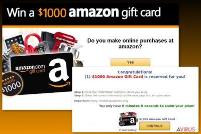Példa az Amazon ajándékkártyás vírusra
