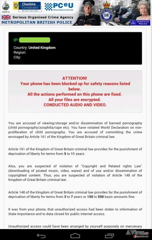 Android Police vírus kép