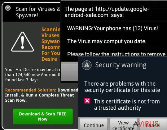 Egy Android malware
