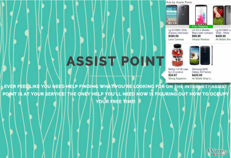 Ads by Assist Point example and the official website of Assist Point PUP