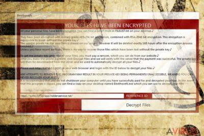 Képernyőkép a BeethoveN vírusról
