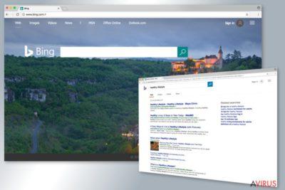 Bing redirect virus