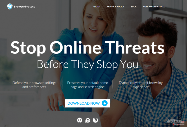 BrowserProtect adware kép