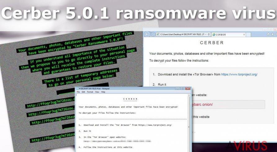 Cerber 5.0.1 ransomware vírus