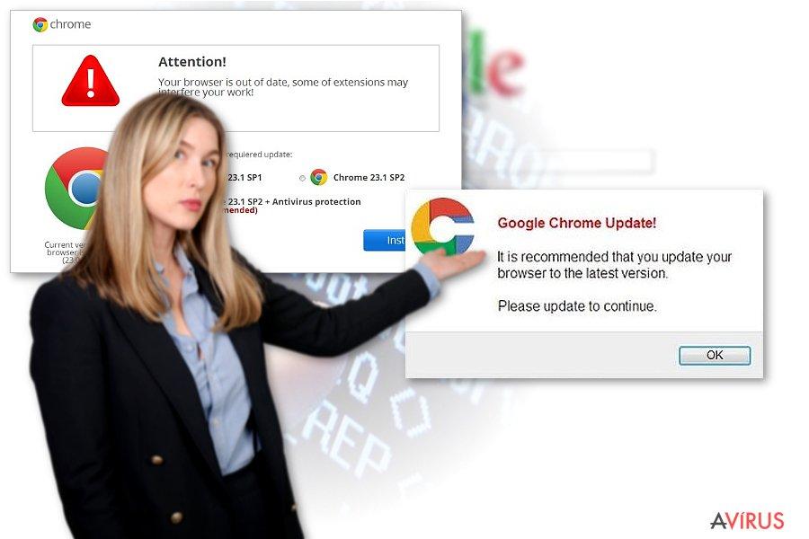 Egy Chrome átirányító vírus