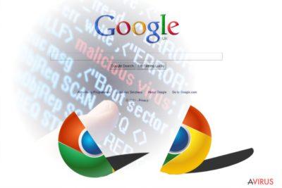 Chrome vírus ábrázoló kép