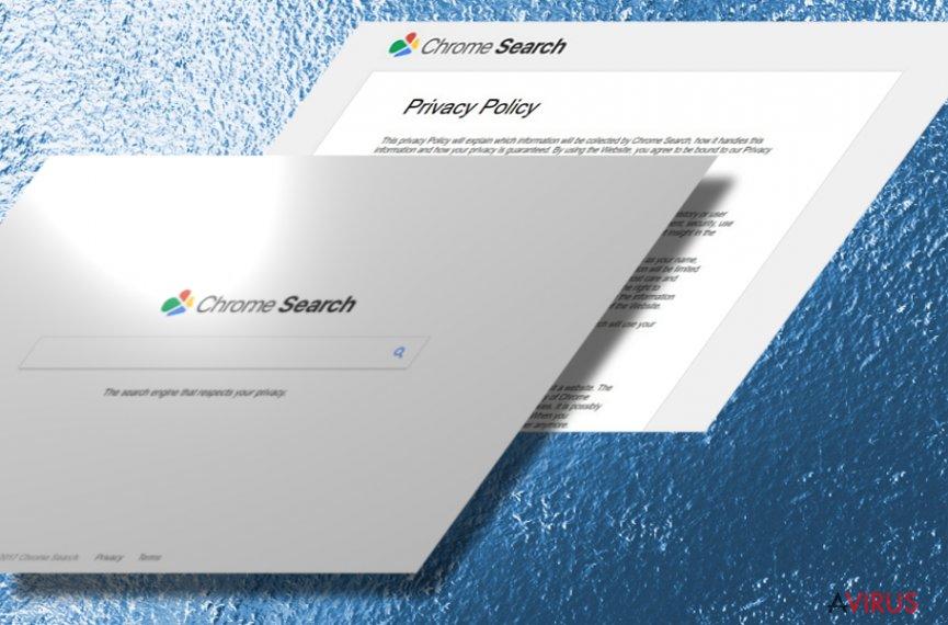 Kép a Chromesearch.today eltérítőről