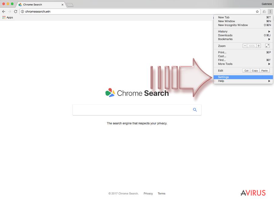Chromesearch.win vírus kép