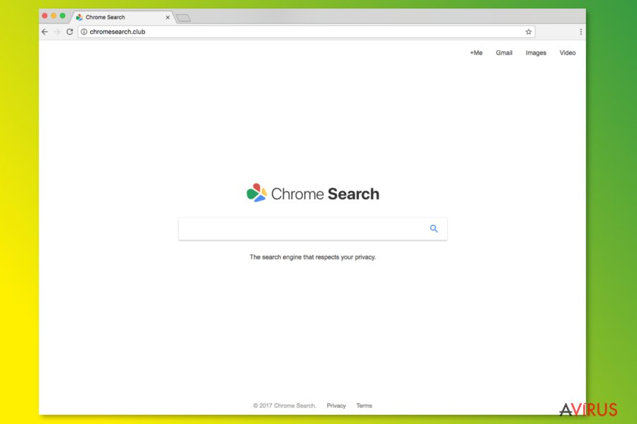 A ChromeSearch.club weboldala