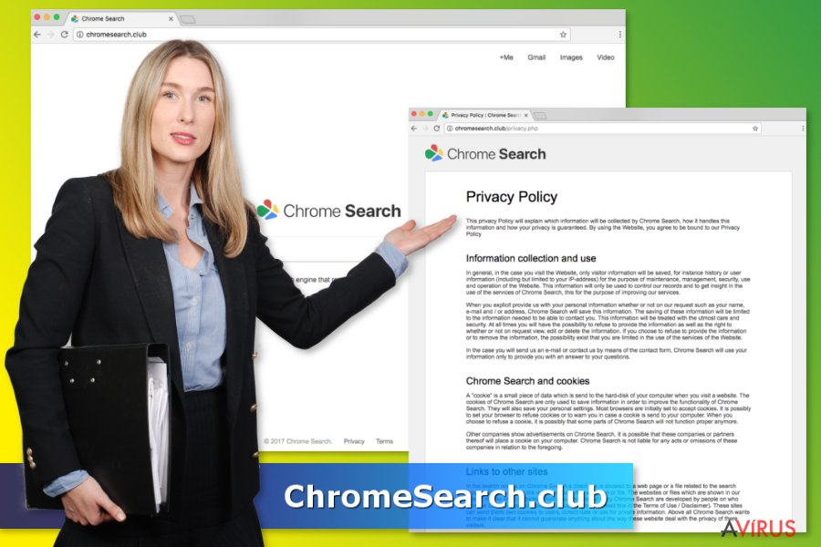 A ChromeSearch.club vírus