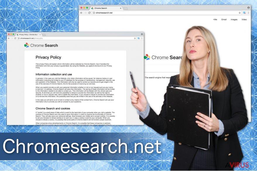 Illusztráció a Chromesearch.net-ről