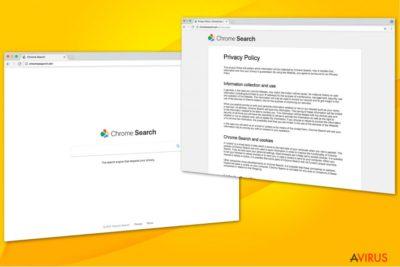 Illusztráció a Chromesearch.win vírusról