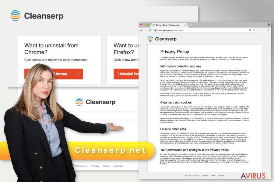 A Cleanserp.net vírus illusztrációja