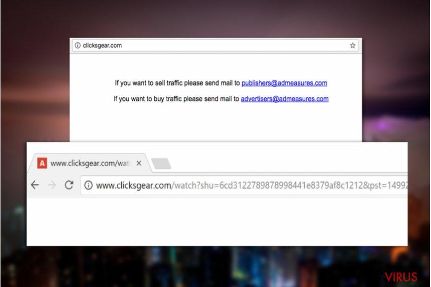 Clicksgear.com vírus