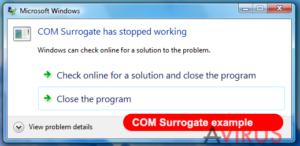 COM surrogate vírus