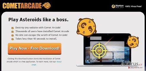 Comet Arcade vírus kép