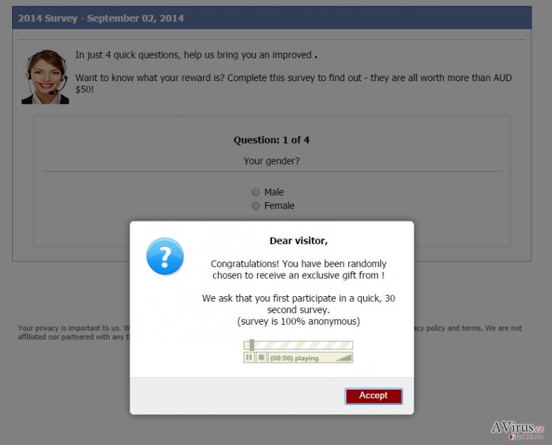 Consumer-responses.com felugró vírus kép