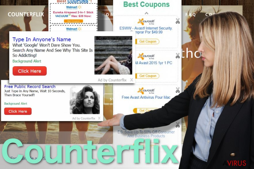 A Counterflix hirdetéseket ábrázoló kép