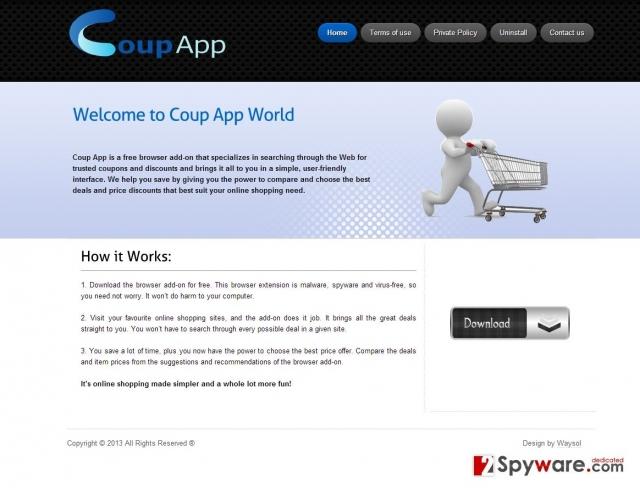 Coup App hirdetések kép