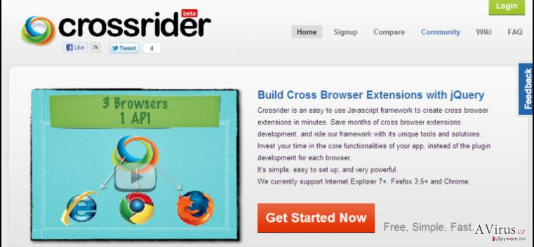 Search.crossrider.com átirányító kép