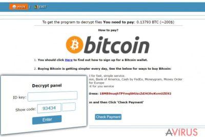 Onion weboldal a Cry128 ransomware fejlesztőinek instrukcióival a váltságdíjat illetően