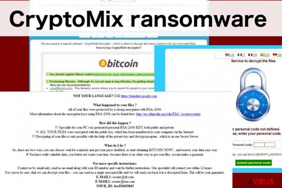 Illusztráció a CryptoMix zsarolóvírusról