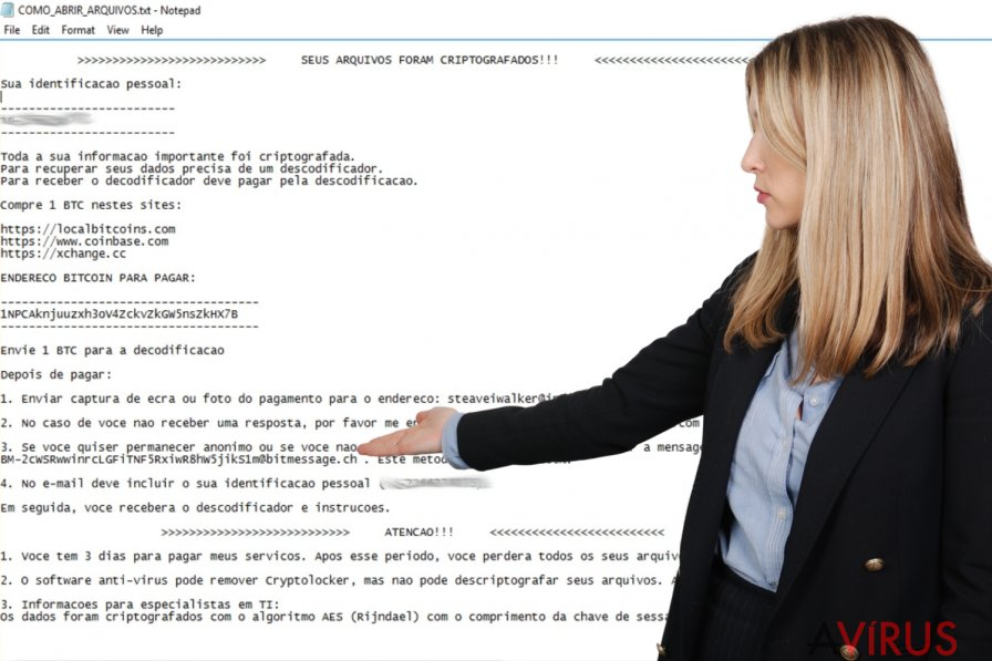 A Cryptolocker Portuguese ransomware
