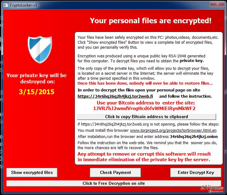 Cryptolocker-v3 vírus kép