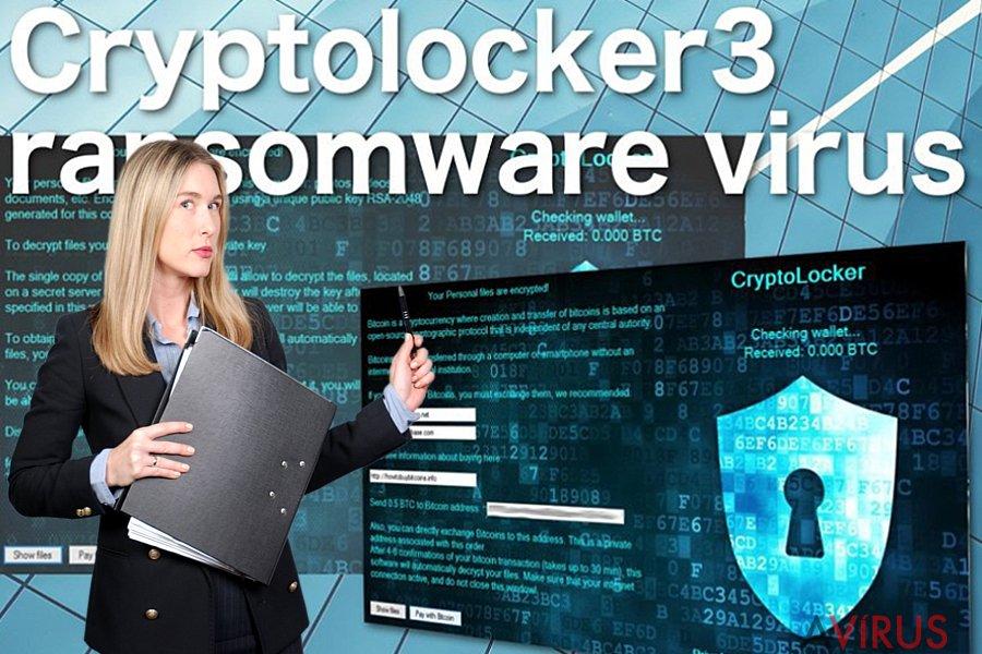 Cryptolocker3 ransomware vírus