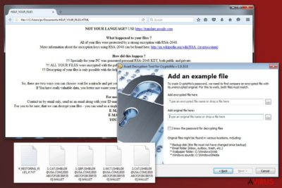 Kép a CryptoMix vírusról