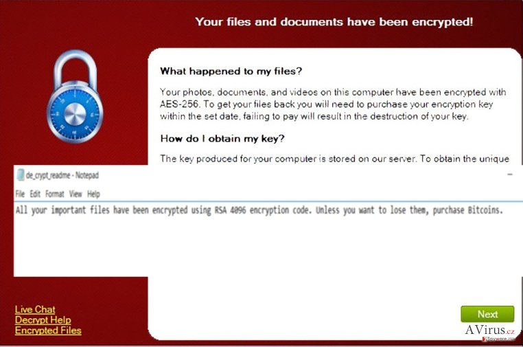 The picture revealing CryptXXX ransomware