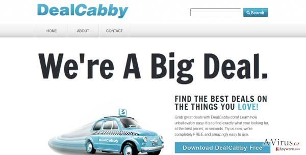 DealCabby vírus kép
