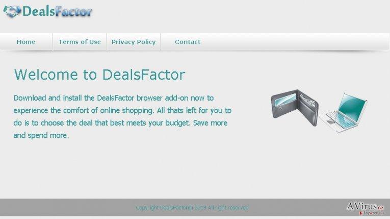 DealsFactor vírus kép