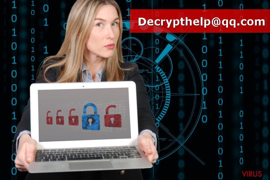 Kép a Decrypthelp@qq.com zsarolóvírusól