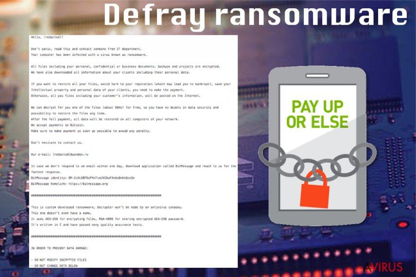 Defray ransomware virus