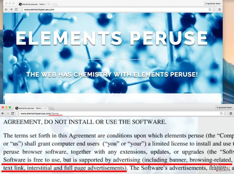 Elements Peruse PUP