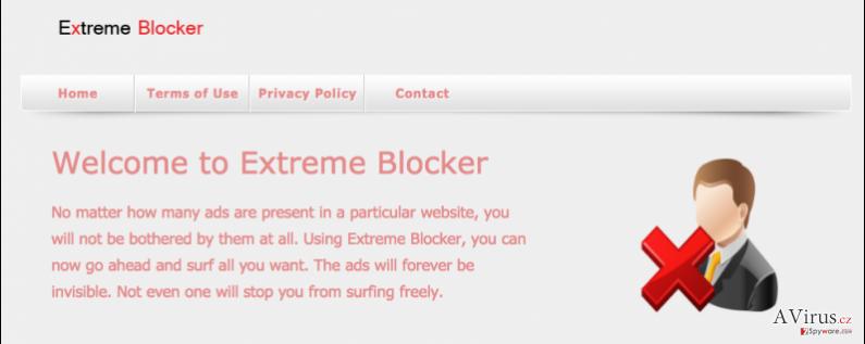 Extreme Blocker vírus kép