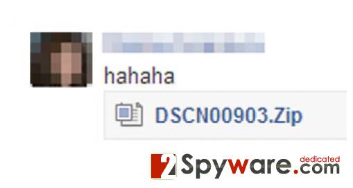 "Facebook ""hahaha"" vírus kép"